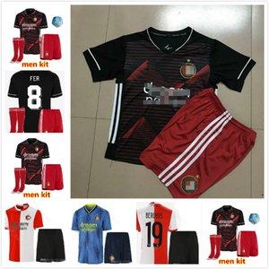 Adult kids kit Feyenoord 19 20 soccer jersey home away 2019 2020 V.PERSIE LARSSON 19 BERGHUIS 10 VILHENA 9 JORGENSEN Kids kit JERSEY SHIRT