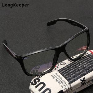 Brand Long Fashion Anti Blue Light Glasses Men Black Big Spectacle Frame Computer Glasses for Women 2020 New