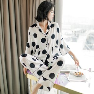 elVAn Mixed Batch online celebrity ins trend Korean casual clothes home furnishing clothing large size pajamas female cute Ice Silk bat slee