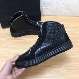 SS18 Yeni Sneaker-Platform Erkek Ayakkabı varış SS1798 Üst Yıldız Perçin Casual Erkek Ayakkabı Lüks Katman Deri EUR38-45 hn01