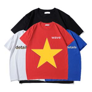 mens yaz t shirt çiftleri moda gömlek mektup baskılı klasik moda kadın erkeklere gündelik kısa kollu dalga