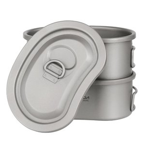 Titanium Canteen Set 750ml Hanging Hiking And & Hiking Pot Picnic Backpacking Travel Bowl Camping Bag Lunch Box Tableware Tourism Camp M7Qa#