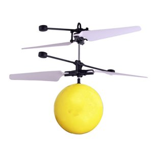 Hand Induction Flying Facial Expression Children Drone Helicopter Ball Built-in Shinning LED Lighting Crack Planet Toys for Kids