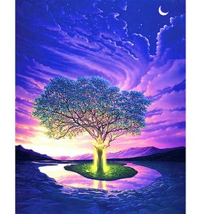 Tree Star Full Drill 5D Diamond Round Rhinestone Embroidery Painting DIY Cross Stitch Kit Mosaic Draw Home Decor Art Craft Gift