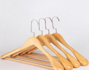 cintres en bois multi-fonctionnel fini naturel cintre en bois Les vêtements pliants en bois Hanger haute qualité vêtements armoire de stockage