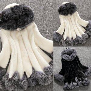 Manteau d'hiver Femmes d'hiver Manteau Femme capuche chaud Veste femme en vrac peluche veste manteau de duvet de femmes femmes
