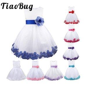 Flower Girls Princess Dress Kids Infant Girls Flower Petals Tulle Formal Wedding Pageant Dress Bridal Tulle Formal Party