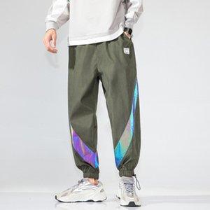 NAMTHEUN 2020 Autumn Hong Kong Art Art und Weise Mann-beiläufige Hosen Hip Hop Sport lose Paare Tunnelzug Hose plus Größe M-5XL