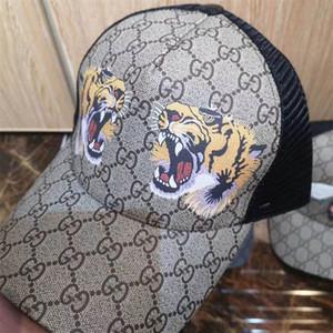 20ss moda Tapas de lujo Nueva tigre patrón de la letra Ball Caps cuatro estaciones de Hip Hop de las mujeres de los hombres gorras de béisbol del casquillo del Snapback estilo de la calle