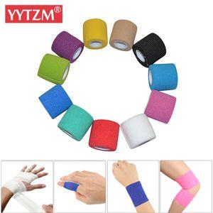 6 adet renkli atletik Wrap Bant Kendinden yapışkanlı Bandagem Kniebandage Elastica Spor Bant Koruyucu Diz Parmak Bilek Palmiye