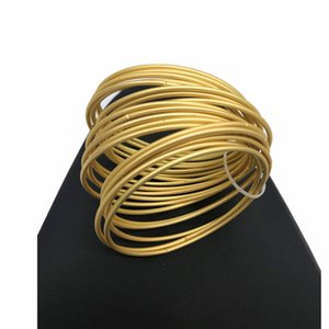 19pcs Gold Multi-layer Ins Exaggerated Women Catenary Bracelet