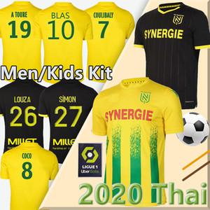 20 21 Maillots Nantes FC soccer jersey maillot de foot kits 2020 2021 SIMON LOUZA A TOURE BLAS COCO COULIBALY football shirts uniform