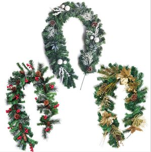 Artificial Green Leaves Wreath Christmas tree Decoration Front Door flower Wreath Shell Grass Boxwood For door Wall Window Party