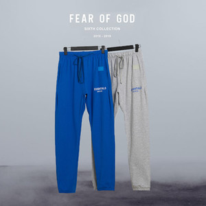 Woman Men's Pants Winter Man Trousers Fear of God Essentials TMC Blue Pants Streetwear FOG Pants Solid Loose Sweatpants Sportswear Cargo