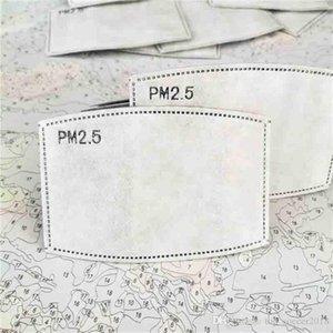 Lucha contra el papel de filtro Pm2 0,5 Haze Boca máscara contra máscara de polvo Filtro de carbón activado máscara facial de algodón de papel con filtro de 50pcs Lote