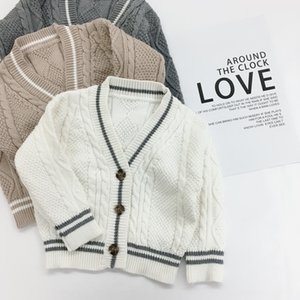 Boyssolid color pure cotton clothing children's clothing cardigan sweater children's sweater cardigan