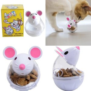 Cat Tumbler Leakage Feeder Interactive Toy Pet Puppy Feeder Leakage Playing Training Educational Toys For Cat Kitten Cats Toy 2 Colors