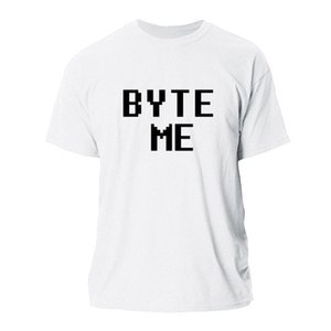 MENS 플러스 사이즈 3XL 남성 의류 MENS TEE 셔츠 COTTON SIMPLE 힙합에 대한 HOT 세일 BYTE ME T 셔츠 MEN LARGE 2020 적합성 T 셔츠