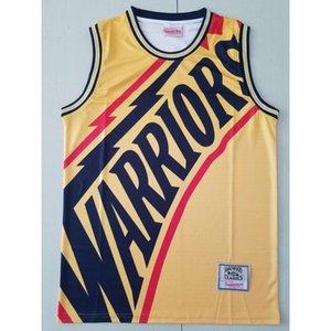 32 BASKETBALL JERSEYS Mitchellness series S-XXL CLASSIC YELLOW JERSEYS Cheap stitched Basketball jerseys