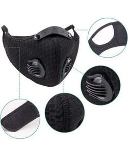 Máscara de ciclismo de deportes al aire libre Máscara de válvula de respiración para hombres y mujeres con elemento de filtro Anti-Smog Anti-polvo Face Maks DWA2597