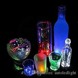 LED Coaster Flashing Light Bulb Bottle Hookah Led Light Mat Cup Mat Colorful Light Up For Club Bar Home Party