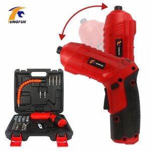 Inalámbricos eléctricos puntas de destornillador kit 4.2V recargable de potencia taladro tornillo Driver Kit con luz LED Controlador Mini Wireless Power 1jPt #