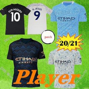 نسخة لاعب مانشستر 2020 لكرة القدم جيرسي KUN AGUERO رودريغو 20/21 مانشستر MAHREZ STERLING CITY الحارس قمصان كرة القدم إيدرسون M.