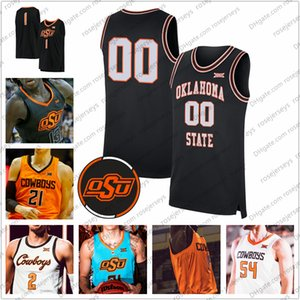 Personnalisé Oklahoma State OSU Baksetball # 2 Cade Cunningham 12 Cameron Mcgriff 13 Isaac Likekele 21 Lindy Waters Hommes III Jeunesse Kid jersery 4XL