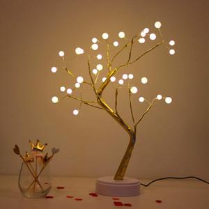 """20"""" tavolo Bonsai chiaro con 36 perle LED, Mood Light, Pearl Branch Luci per le vacanze / casa decorativi, luce di notte per soggiorno"""