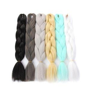 Harry Hair 100g 24 Inch Single Ombre Color Synthetic Hair Extension Crochet Twist Jumbo Braiding Kanekalon Hair