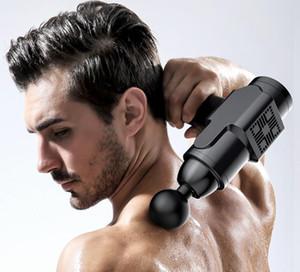 Fascia gun electric high-frequency vibration mute massager muscle equipment relaxation fitness small massage gun EM06