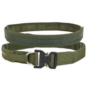 Tactical Belt Molle esterno dell'esercito Fighter CS Wargame Heavy Duty Double Layer Cinture Shooter caccia d'escursione di nylon