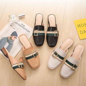 Sandalet yaz tek ışık ayakkabı Platformu Ayakkabı tokası Yeni stil yarım scuffs terlik kadın kemer terlik Kadınlar