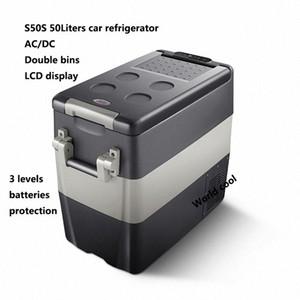 50L AC / Car DC12V24V Frigorifero auto Freezer più fresco di campeggio portatile Mini Frigo compressore Frigorifero Fridge nR78 #