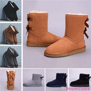 designer boots WGG Leather Women Australia Classic kneel half Boots Ankle boots UG Black Grey chestnut navy blue red Womens boot