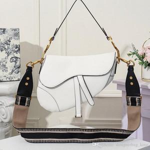 Ombro Luxo Saddle Bag para as Mulheres Bolsas Clássico Mensageiro Parágrafo Rivet Broadband Saddle Bag 25.5x20x6.5cm