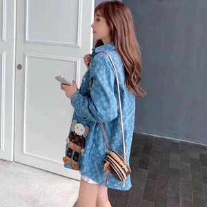 Spring 2020 new women's wear, social lovers cardigan web celebrity same style, fashion and leisure, loose and comfortable shirt,