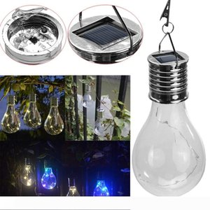 Solar Rotatable Outdoor Garden Camping Hanging LED Light Lamp Bulb Waterproof Solar Light Bulb Colorful LED Fairy Light for Home Decoration