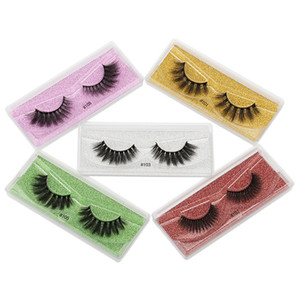 Faux 3D Mink Eyelashes Natural False Eyelashes Handmade Curly Mink Lashes Eyelash Extension Makeup Dramatic lashes Wholesale