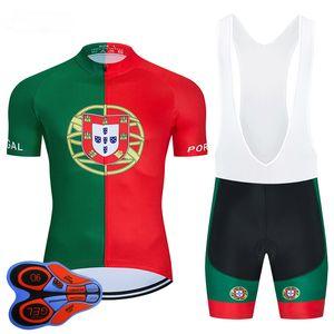 2020 Portuga Maillot cyclisme 9D Set VTT Uniforme Vêtements Vélo Ropa Ciclismo Mens Quick Dry Bike Wear Maillot court Culotte