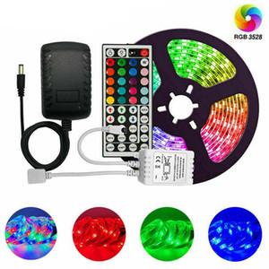 DHL impermeabile 3528 RGB CW WW 5M 300 illuminazione principale luce di striscia impermeabile 44 chiavi IR Remote Controller + 12V 2A Alimentatore