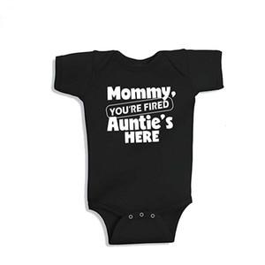 New Mommy Onesie algodão de manga curta babador Bebés Meninos Meninas roupas engraçadas tia do bebê Roupa 0-24M