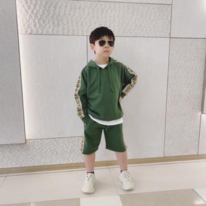 2020 New Spring Autumn Children Clothing Sets Boys Sports hoodies+short 2pcs Set Infant Outfit Kids Clothes Suit Boy Girl Tracksuit