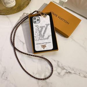 Casi cellulare marchio di moda telefono per l'iPhone XS 11 pro caso max 78 più la copertura del telefono progettista XR con catena