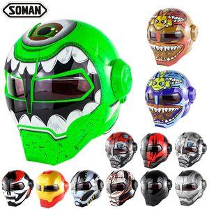inWtx Ferro Soman SM515 meio esqueleto garra fantasma Transformadores Ferro motocicleta Soman SM515 Transformadores motocicleta capacete meio capacete esqueleto