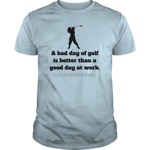 Men Short sleeve tshirt Bad Day Of Golf - Colorblock Hoodie cool Women t-shirt