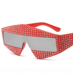 New Designer Fashion Rhinestone Sunglasses Womens Mens Sunglasses High Quality Party Square Oversized Sun Glasses Sunglasses