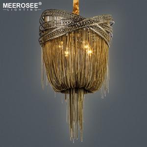 Бронза Современная алюминиевая люстра Освещение Итальянской кисточкой Дизайн Крытый цепи Подвеска Lustres Подвесной светильник для гостиной Foyer House