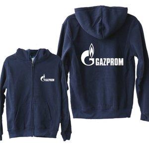 Новая Россия Газпром Толстовки Осень флис Zipper Jacket Газпром Толстовка Мужчины пуловер