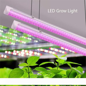 LED Grow Light, Full Spectrum, High Output, Linkable Design, T8 Integrated Bulb+Fixture, Plant Lights for Indoor Plants,2ft-8ft v shape tube